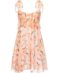 Dondup Short Dress - Orange