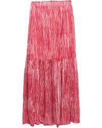 Soallure Long Skirt - Red