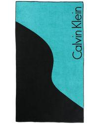 Calvin Klein Toalla de playa - Azul