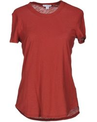 James Perse T-shirt - Rosso