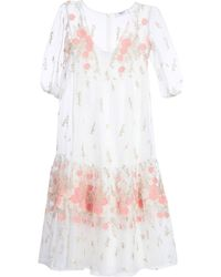 Blugirl Blumarine 3/4 Length Dress - White