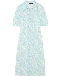 Kwaidan Editions Midi Dress - Blue