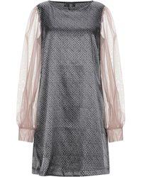 Satine Label Short Dress - Black