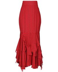 MILLY Long Skirt - Red