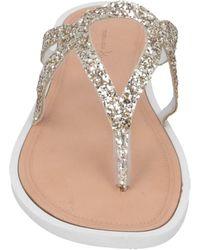 Tosca Blu Toe Post Sandals - Natural