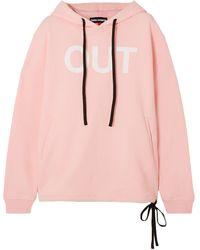 DOUBLE RAINBOUU Hoodie Aus Baumwollfleece Mit Print - Pink
