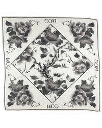McQ Square Scarf - White