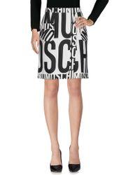 Moschino Knee Length Skirt - White