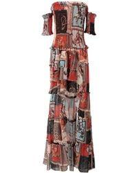 W Les Femmes By Babylon Long Dress - Brown