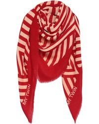 MY TWIN Twinset Scarf - Red