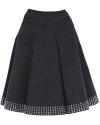 Alaïa Knee Length Skirt - Black