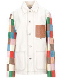 Loewe Manteau en jean - Blanc