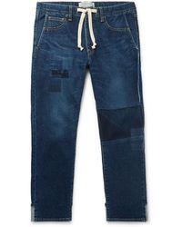 Remi Relief Denim Pants - Blue