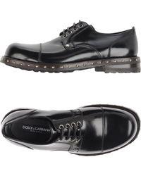 Dolce & Gabbana Chaussures à lacets - Noir