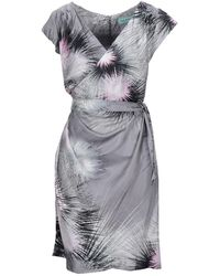Almost Famous Short Dress - Grey