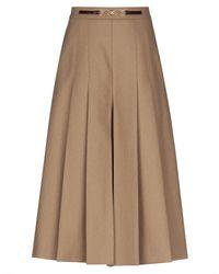 Celine 3/4 Length Skirt - Natural