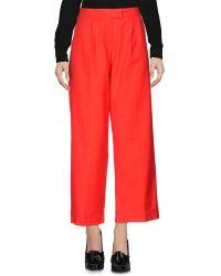 Boutique Moschino Pantalon - Rouge