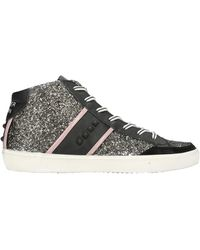 Leather Crown High-tops & Trainers - Black