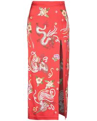 The Attico Embellished Fitted Skirt - Red