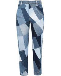 Ksenia Schnaider Denim Trousers - Blue