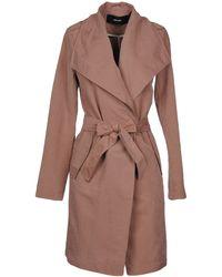 Vero Moda Overcoat - Brown