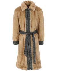 ALEXACHUNG Teddy coat - Neutro