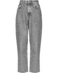 Haikure Denim Trousers - Grey