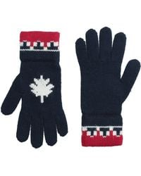 DSquared² Nordic Knit Wool Gloves - Blue