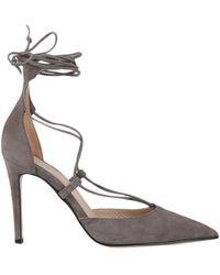 Iris & Ink Court Shoes - Grey