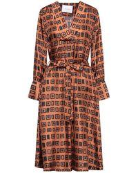 Bagutta Midi Dress - Brown