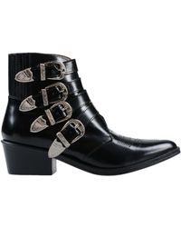 Toga Black Leather Ankle Boots - Size 6