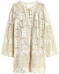Anna Sui Short Dress - Natural