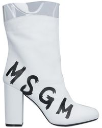MSGM Ankle Boots - White