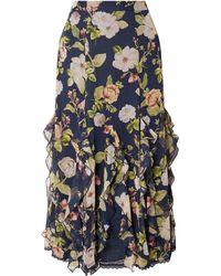 Alice + Olivia 3/4 Length Skirt - Blue