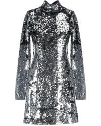 In the mood for love Short Dress - Metallic
