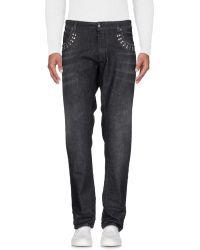 Versace Pantalon en jean - Noir
