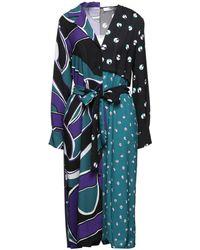 Suoli Midi Dress - Blue