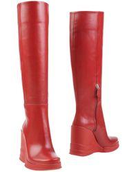 Prada Knee Boots - Gray