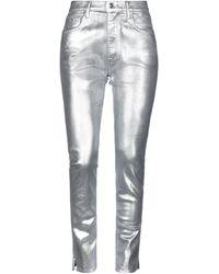 People Denim Pants - Metallic