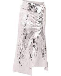 Acne Studios Long Skirt - Metallic