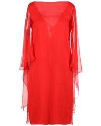Alberta Ferretti Knielanges Kleid - Rot