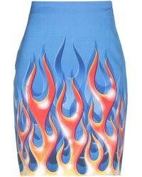 Moschino Knee Length Skirt - Blue
