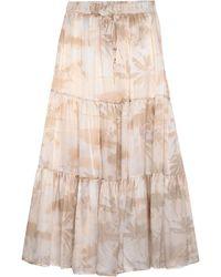Max & Moi Long Skirt - White