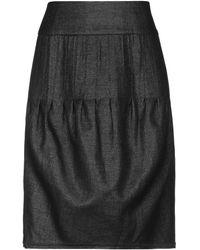Roberta Scarpa Knee Length Skirt - Black