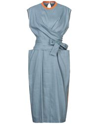 Mrz 3/4 Length Dress - Blue