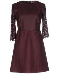 SCEE by TWINSET Short Dress - Purple