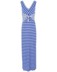 Clips Long Dress - Blue