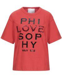 Philosophy Di Lorenzo Serafini T-shirts - Rot