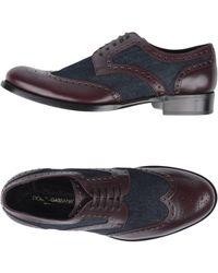 Dolce & Gabbana Lace-up Shoe - Purple
