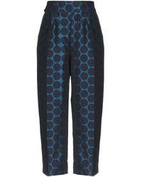 Manila Grace Pantalone capri - Blu